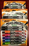 BIC Low Odor & Bold Writing Pen Style Dry Erase Marker, Bullet Tip, Assorted (3 Pack)