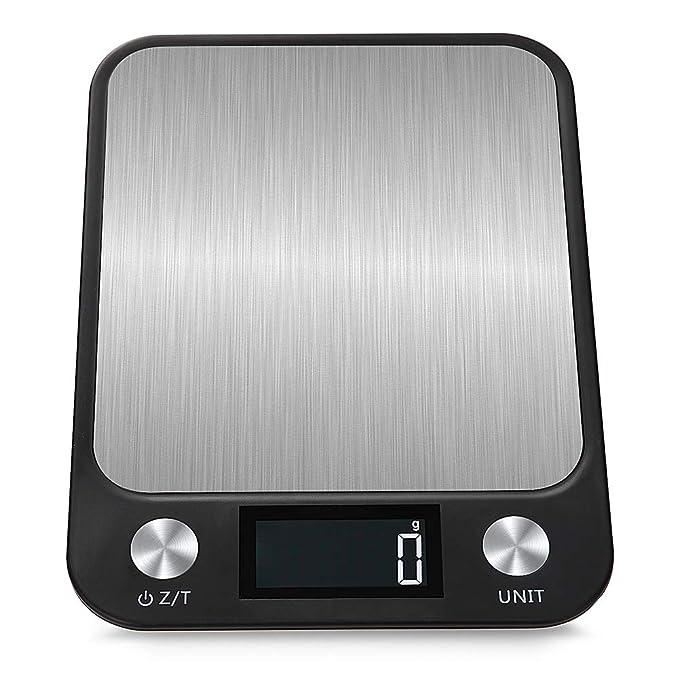 Balanza de cocina de acero inoxidable impermeable de alta precisión: Amazon.es: Hogar