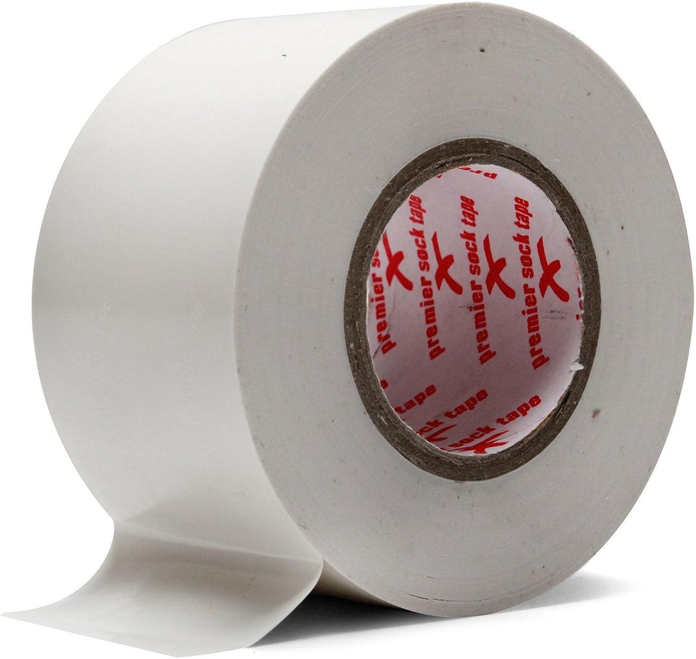 Premier Sock Tape Bande de Maintien Prot/ège-Tibias Rouleau de 20m Blanc