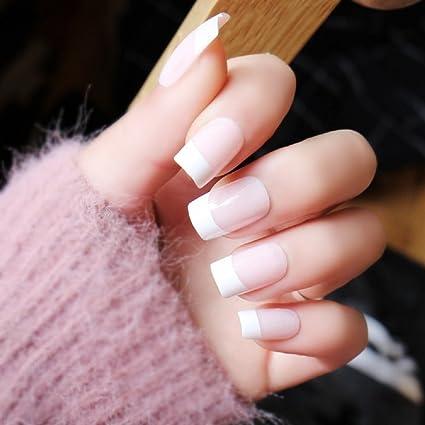 Uñas postizas manicura francesa