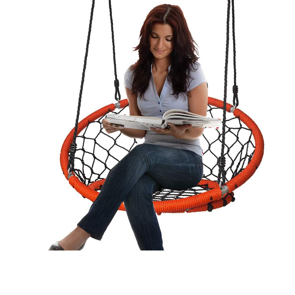 Hammock Chair Hanging Rope Seat Net Outdoor Patio Swing Tree Nest Adults