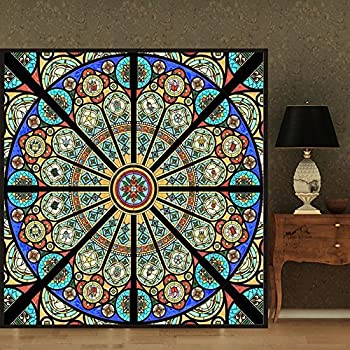Amazoncom Abstract Stained Glass Decorative Privacym Window - Stained glass window stickers amazon
