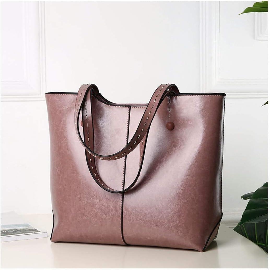 ATR Einzelne Schulter schräge Dame Tasche Reine Farbe Einfachheit Mode Freizeit Pink