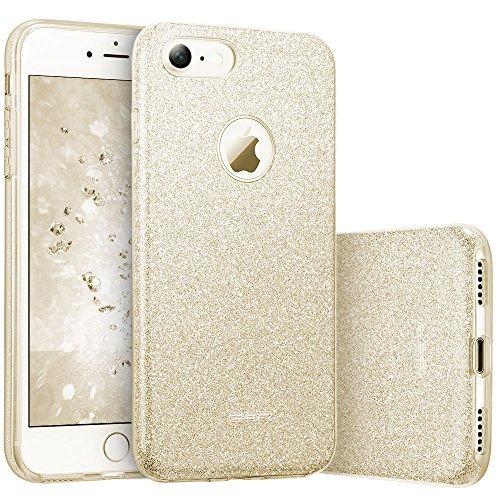 iPhone 7 Case, ESR Luxury Glitter Sparkle Bling Designer Case [Slim Fit, Hard Back Cover] Shinning Fashion Style for 2016 Apple iPhone 7 4.7