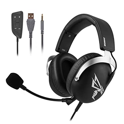 Amazon com: SOMIC G805 Stereo Gaming Headset with Removable Mic for