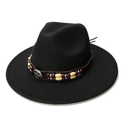 Gorras Sombreros De ala Ancha y Plana Lana de Fieltro Sombreros Sombreros con Cinta Band Jazz
