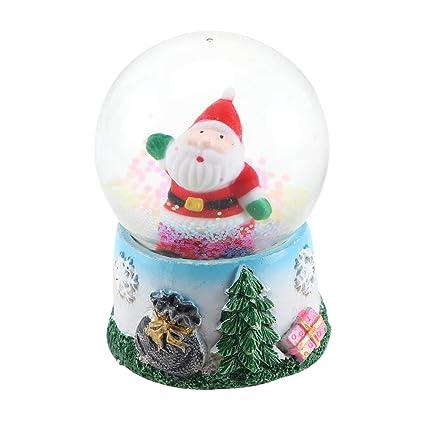 LIOOBO Globo de Nieve de Navidad Luminoso iluminar Caja Musical Bola de Cristal decoración Adorno de Mesa para Regalo Festivo de Navidad para niños (patrón Aleatorio): Amazon.es: Hogar