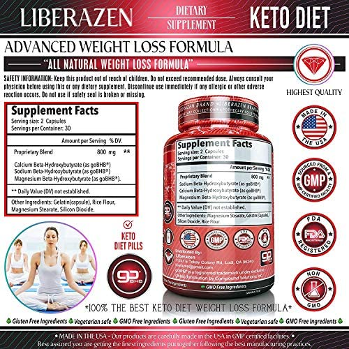 Keto Diet Pills - Instant Exogenous Ketones for Fuel and Natural Burn and Fat Loss Blast - Advanced Weight Loss Pure Keto Supplements for Fast Ketosis - 60 Capsules 6