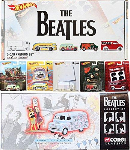 The Beatles Premium Box Set Hot Wheels Album Covers Pop Culture Collectibles cars Corgi Graffiti Tour Van & Fab 4 Fan Figures Rubber Soul / A Hard Days Night / Magical Mystery Tour / White (15 Hot Pops)