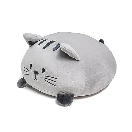 Balvi Cojín Kitty Color Gris Forma de Gato Suave y Muy Blando Poliéster