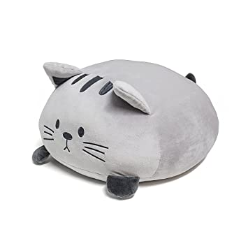 Balvi Cojín Kitty Color Gris Forma de Gato Suave y Muy Blando Poliéster: Amazon.es: Hogar