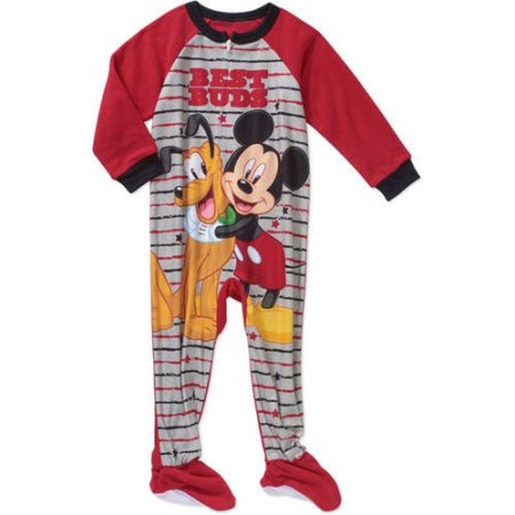 e15c45264 Amazon.com  Disney MICKEY and PLUTO Boy s 2T Fleece Footed Blanket ...