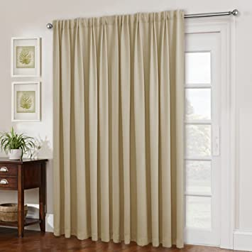 Amazon Com Nicetown Sliding Door Blinds Window Treatment Blackout