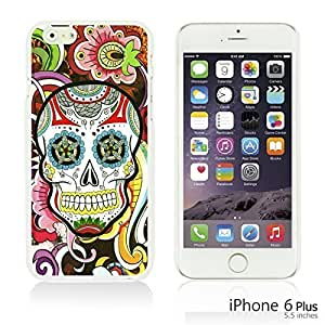 OnlineBestDigital - Skull Pattern Hardback Case for Apple iPhone 6 Plus (5.5 inch) Smartphone - Floral Skull