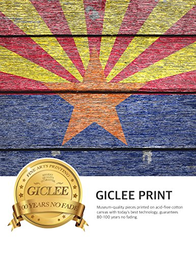 DecorArts - Arizona State Flag. Giclee Print on 100% Archival Cotton Canvas, Canvas wall art for Wall Decor 24x16'' by DECORARTS (Image #6)