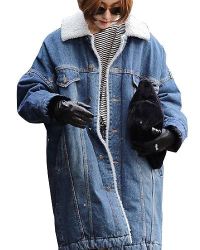 Abrigos Chaquetas Mujer Jacket De Mezclilla Abrigo Chaqueta Parka Larga Mujer