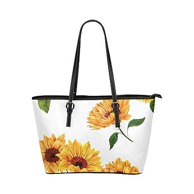 Amazon.com: Bolsas de mano de piel pintada con diseño de ...