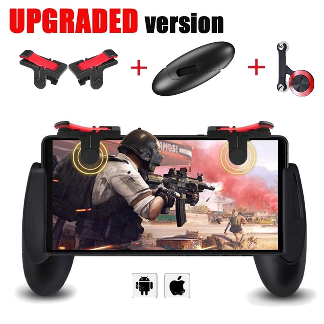 Mobile Game Controller [Upgrade Version] - WeeDee Fortnite PUBG Mobile Controller with Gaming Trigger, Gaming Grip and Gaming Joysticks for 4.5-6.5inch Android iOS Phone