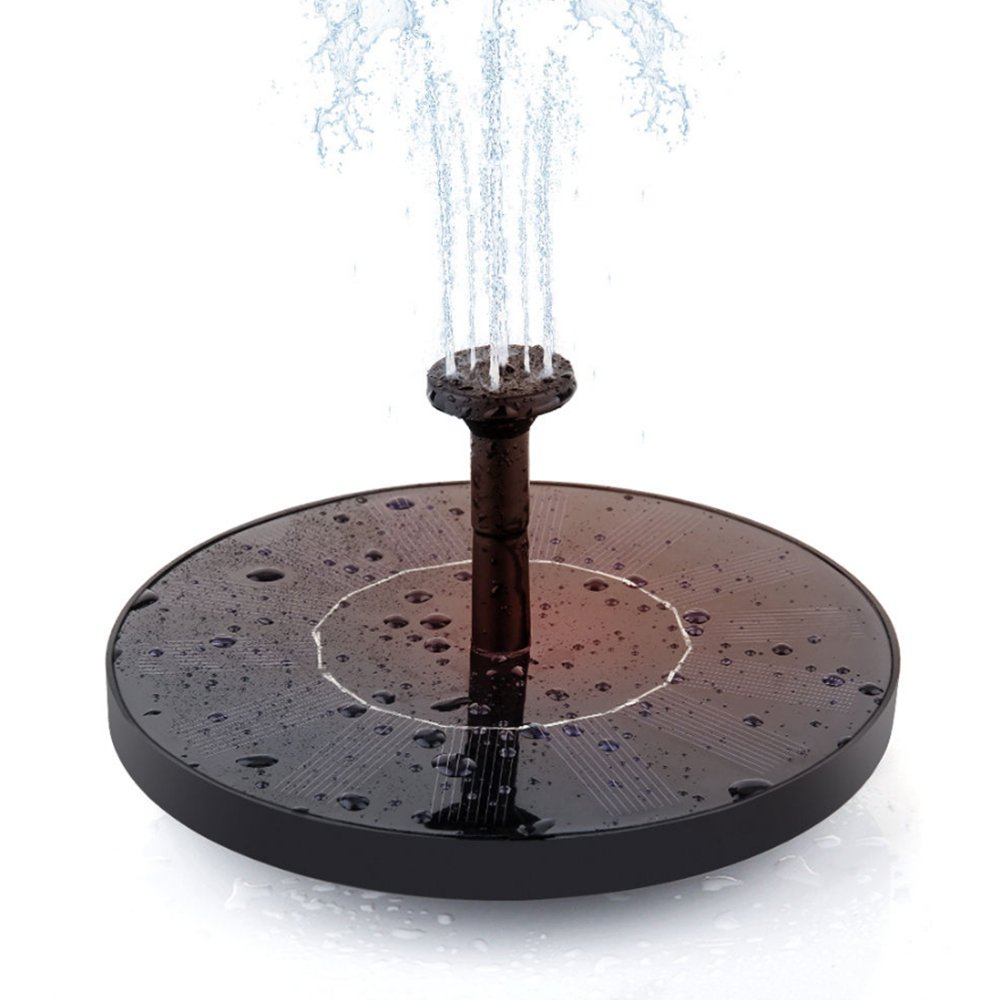 Solar Fountain, Free Standing Solar Fountain Water Pumps Panel Kit Outdoor Birdbath Watering Submersible Pump for Garden and Patio