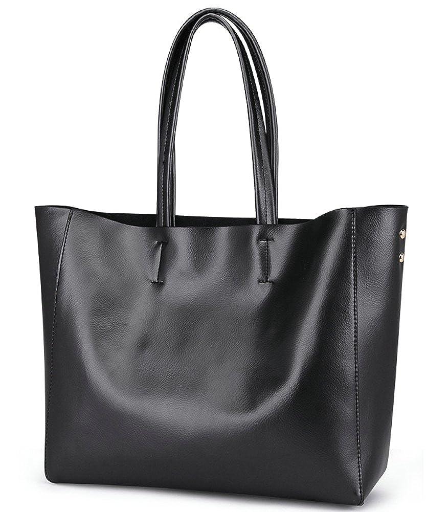 ilishop Womens Soft Leather Fashion Handbags Tote Shoulder Bag