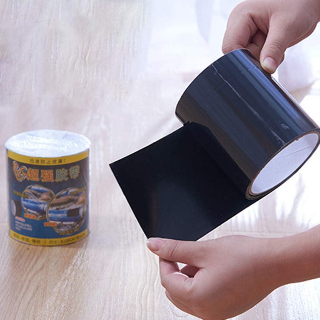smallJUN Nastro Impermeabile Speciale Nastro Adesivo Super Resistente per riparazioni di perdite Nastro sigillante Impermeabile Nero