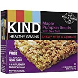 KIND, Healthy Grains Granola Bars, Maple Pumpkin Seed with Sea Salt, 5 count box (Pack of 6)