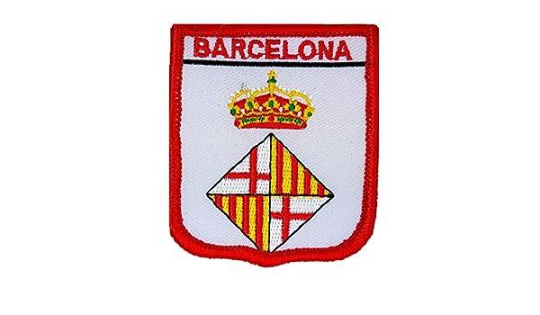 Parche bordado de escudo de la bandera del condado de España Barcelona: Amazon.es: Hogar