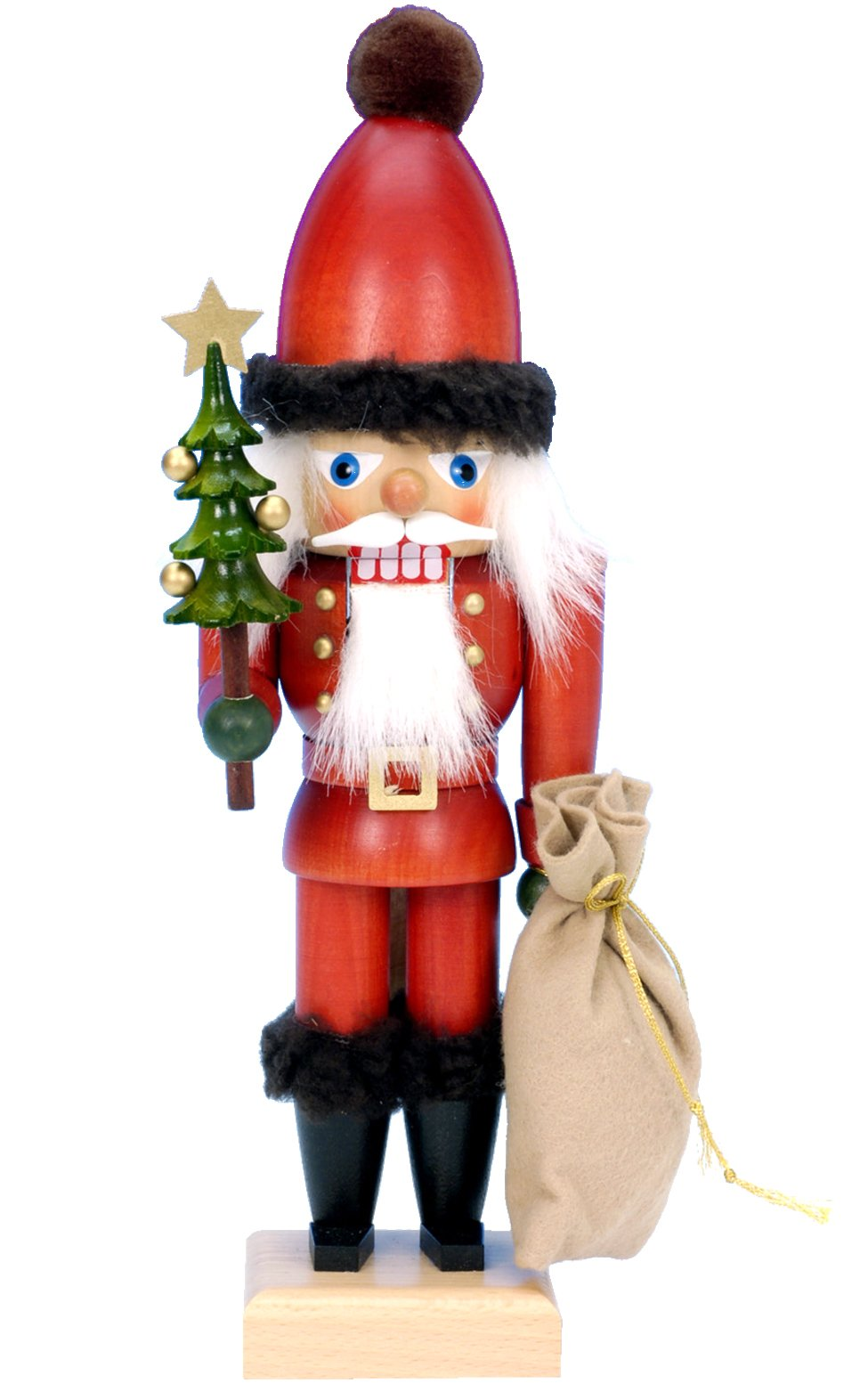 Alexander Taron Importer 32-643 - Christian Ulbricht Nutcracker - Santa with Tree and Sack - 12'''' H x 4'''' W x 4'''' D