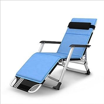 Chaises Longues Chaise Pliante Portative Confortable De Siesta Sun Longue Couleur Bleu