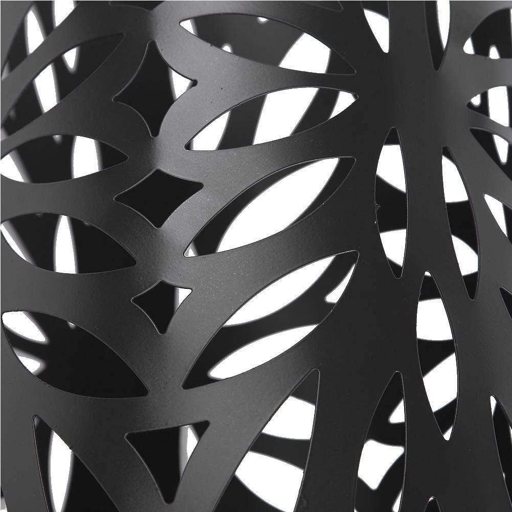 EBTOOLS Porta Ombrelli in Metallo,Portaombrelli Stand in Ferro,Metallo Portaombrelli con Gancio Vassoio di Scarico Staccabile,Lungo//Corto,19.5 x 19.5 x 50 cm
