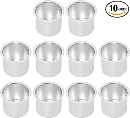 10 Jumbo stainless Steel Drink Cup Holder for tables cars and more