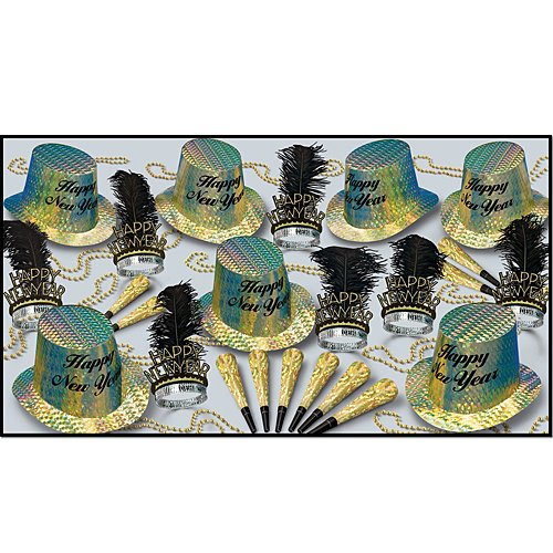 New Year Topaz Asst for 50 Party Accessory (1 count) ()