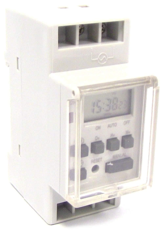 Cablematic - Hebdomadaire é lectrique numé rique Type de programmateur sur rail DIN Cablematic.com PN27021410345116979