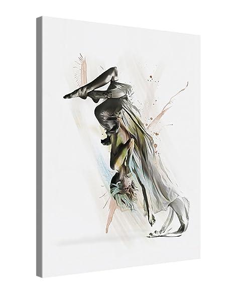 Canvas Print Wall Art - DANCER 2 - 75x100cm Stretched Canvas Framed ...