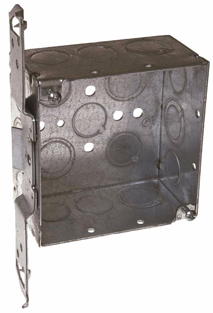 HUBBELL WIRING235 662101 Square Box 4'' TS Bracket, 2-1/8'' Deep