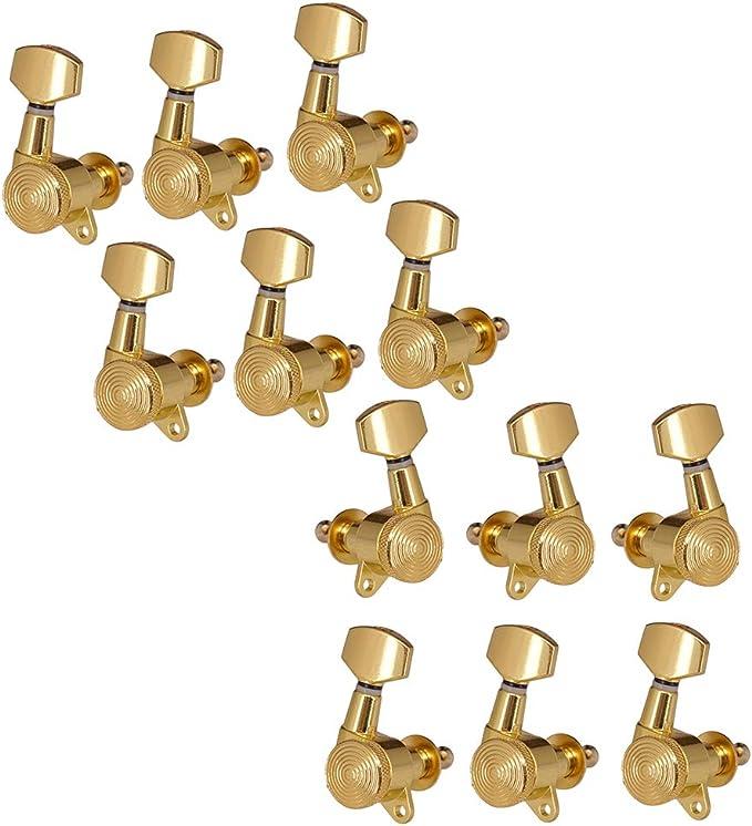Sharplace 1 Juego 3r3l + 6r Clavijas Afinación Cabezas Máquina ...
