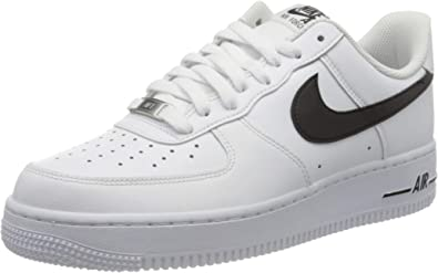 Descendencia Generador tubo respirador  Amazon.com | Nike Men's AIR Force 1 '07 Casual Shoes (9, White/Black) |  Basketball