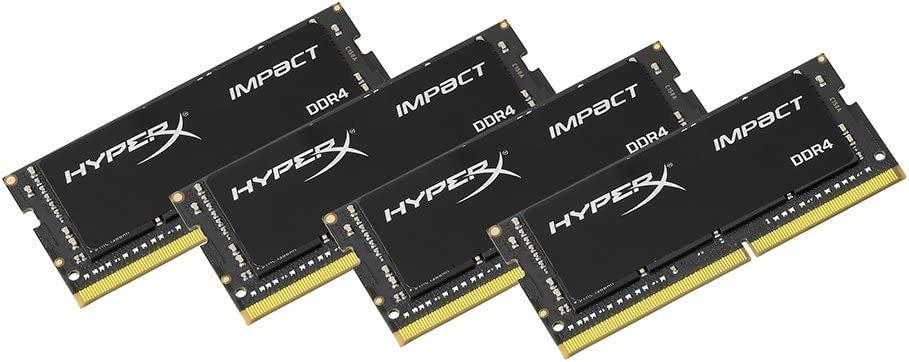4x16GB 2400MHz DDR4 CL15 260-Pin SODIMM Laptoop HX424S15IBK4//64 Kingston Technology HyperX Impact 64GB Kit