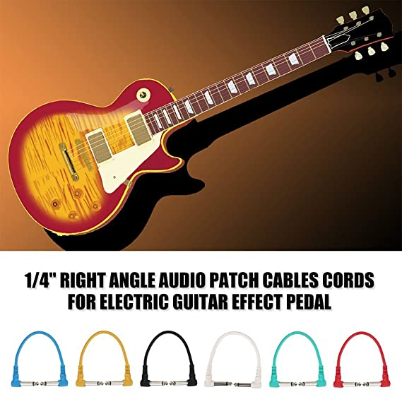 Dilwe 6Pcs Guitarra Cable Patch, 1/4