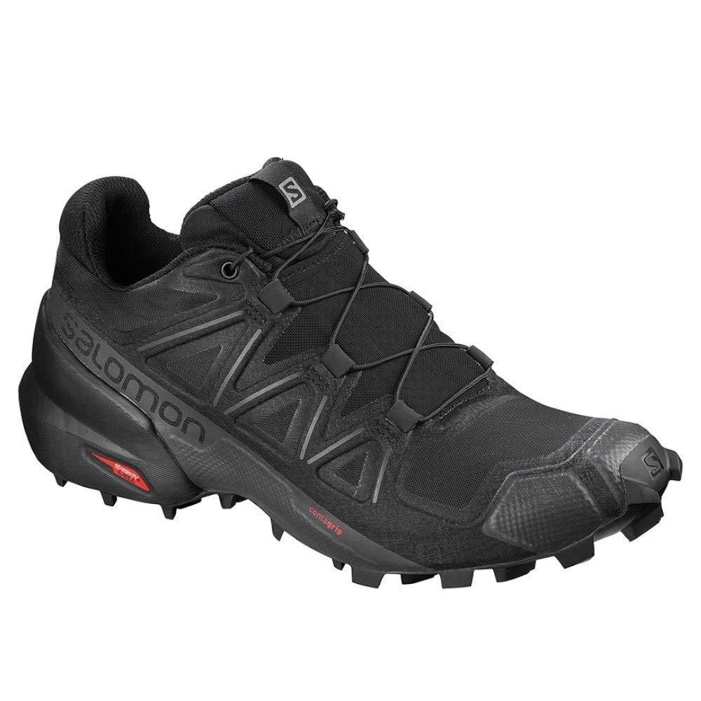 Salomon Women's Speedcross 5 Trail Running Shoes, Black/Black/PHANTOM, 7.5 by SALOMON