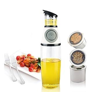 ROOSSI - Dispensador de botellas de aceite de oliva de cristal para cocina