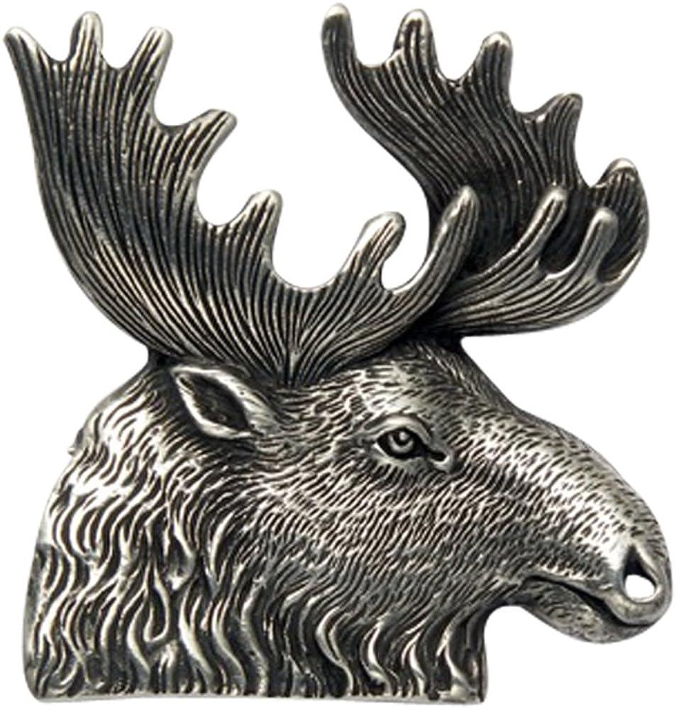 Wild Things Sterling Silver Moose Head Pin