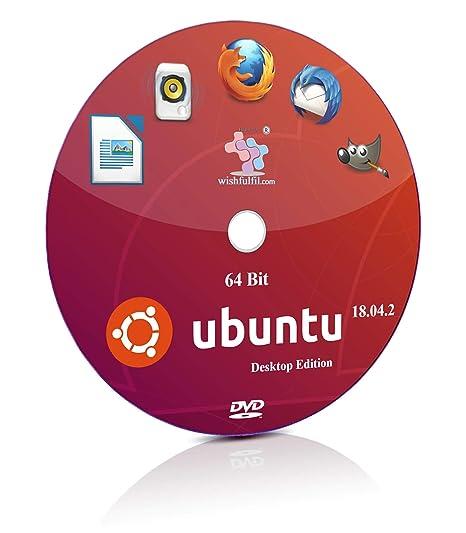 Ubuntu 18 04 2 GNOME 64 Bit Live Bootable Installation DVD