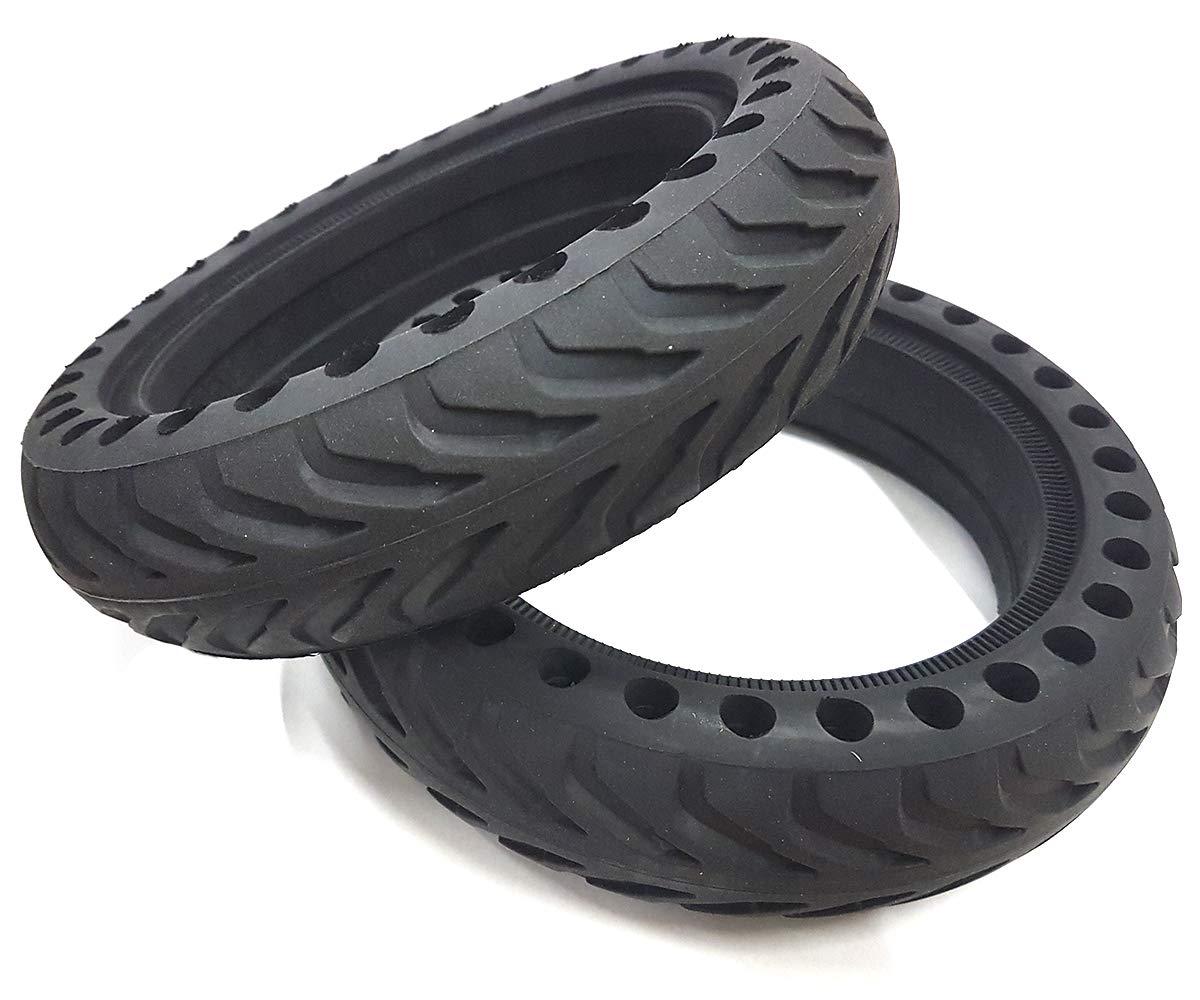 Whinck W-NDURO85-XI 2 Neumáticos Solidos con Sistema Suspensión Xiaomi MiJa, Adultos Unisex, Negro, 8.5