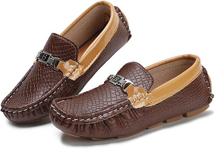 Amazon.com: Hawkwell Mocasines para niños (as), zapatos ...
