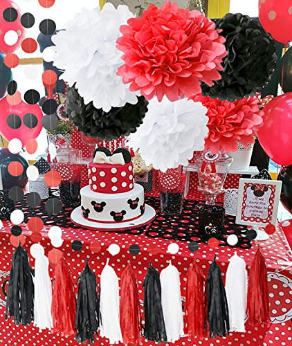 red and white party supplies - 2