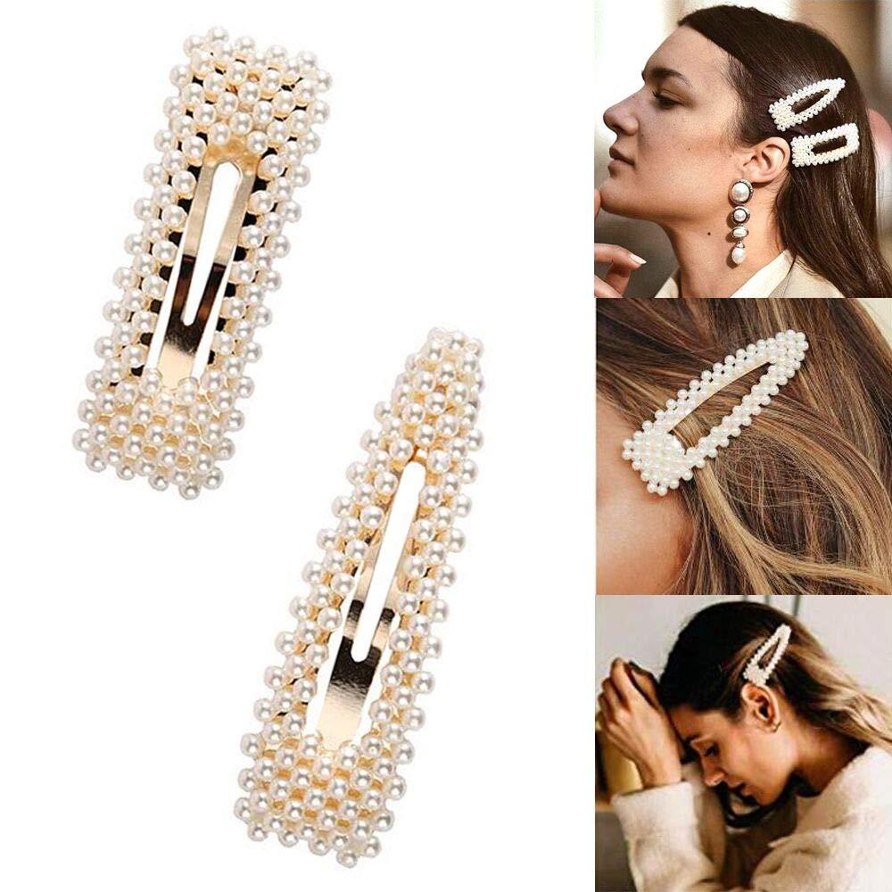 6 Pieces Rhinestone Hair Clips 3 Inch Snap Barrettes Bridal Pins for Women Girls Wedding Hairpins Accessories