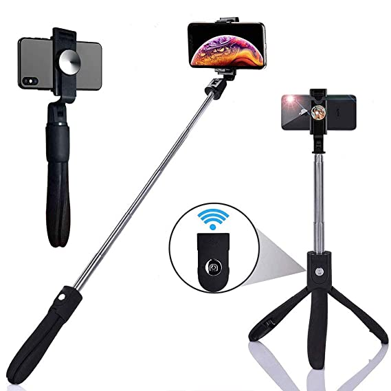 promo code af06a 24c51 Selfie Stick,HiSung Extendable Selfie Stick Tripod with Detachable Wireless  Remote and Tripod Stand for iPhone X/iPhone 8/8 Plus/iPhone 7/7 Plus, ...