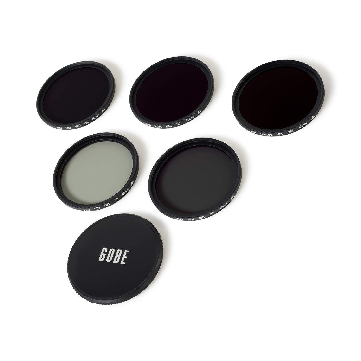 ND64 Gobe 55mm ND2 ND4 2Peak ND8 ND1000 Lens Filter Kit