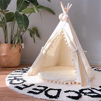 Mascota Triángulo de Madera Carpa Perro Gato Dormir Nido Decoración para Jugar Jugar Casa Princesa Castillo